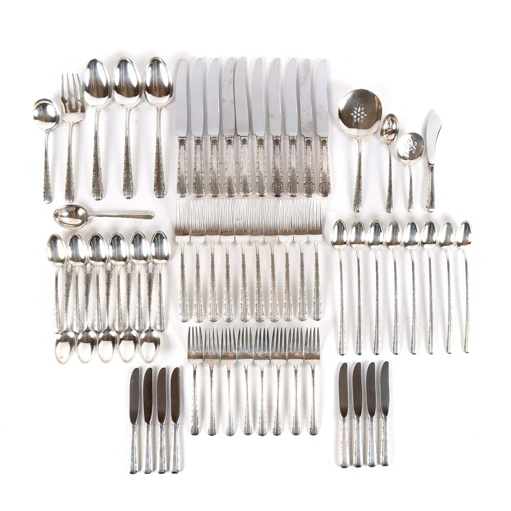 """Towle Sterling Silver Flatware Service """"Candlelight"""" Pattern"""