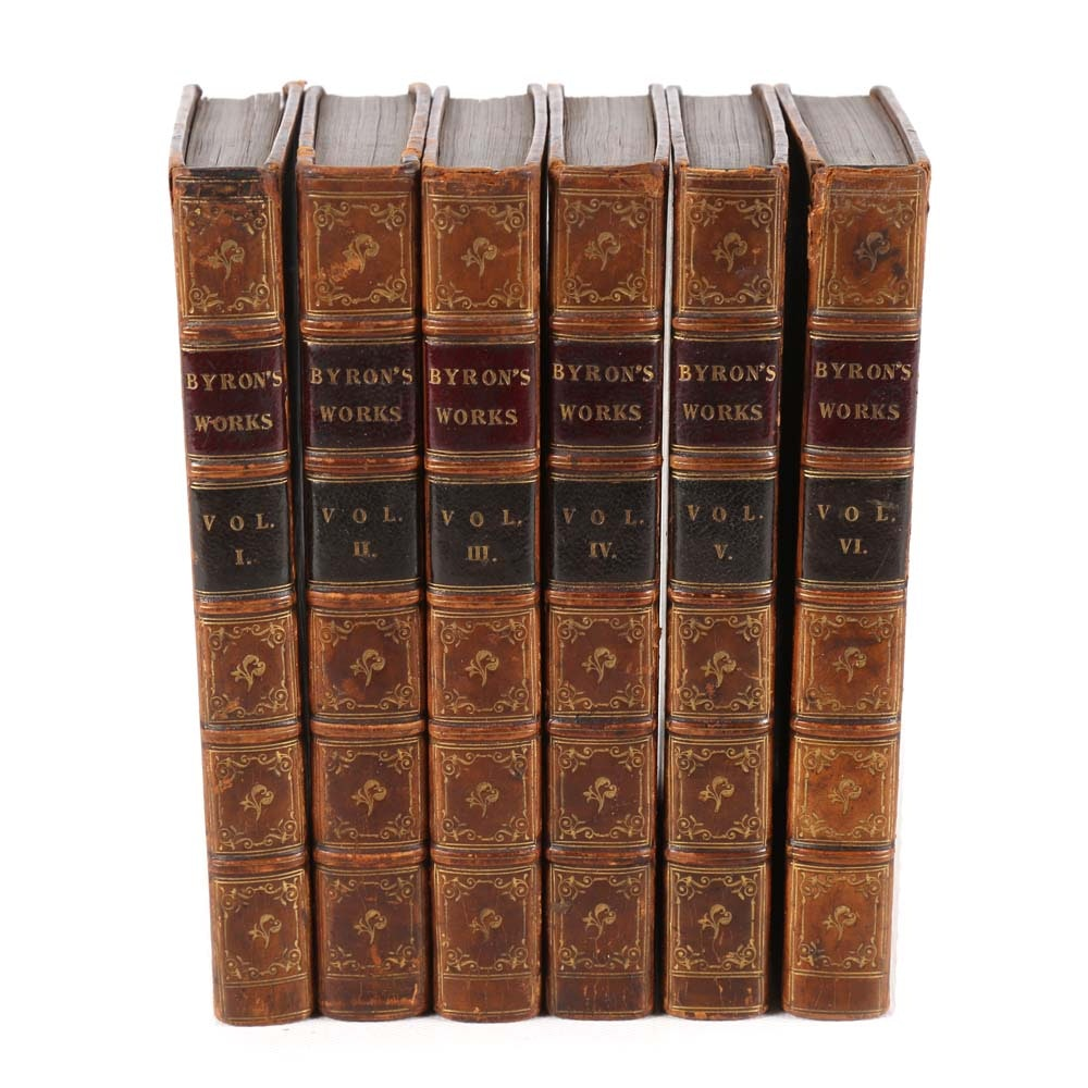 "Antique ""The Works of Lord Byron"" in Six Volumes"
