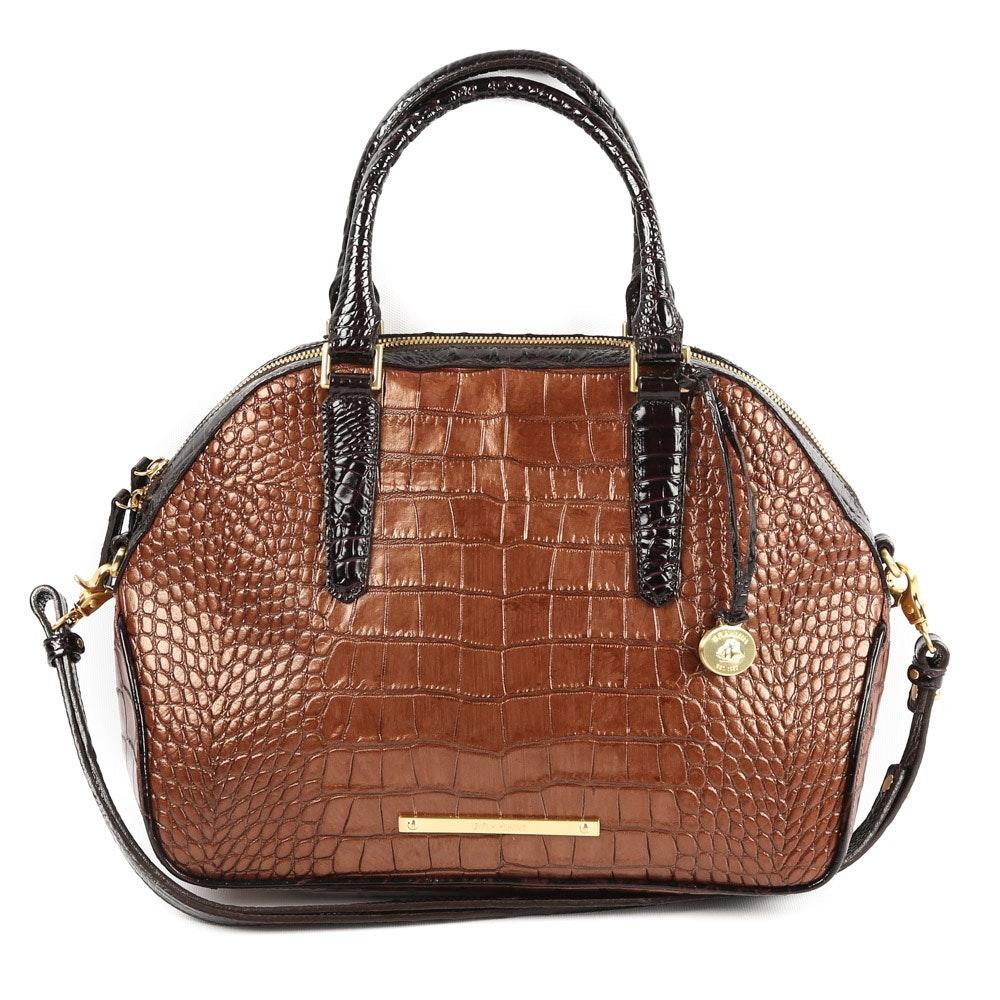 """Brahmin Bronze Sienna Genuine Leather """"Hudson"""" Satchel"""