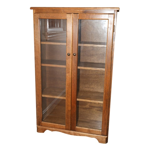 20th Century Glass Door Cabinet Bookcase