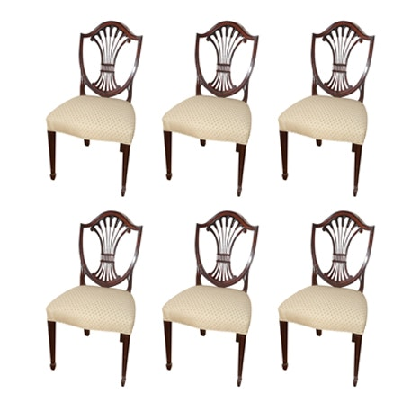 """Hepplewhite Style """"Monroe Place"""" Side Chairs by Stickley"""