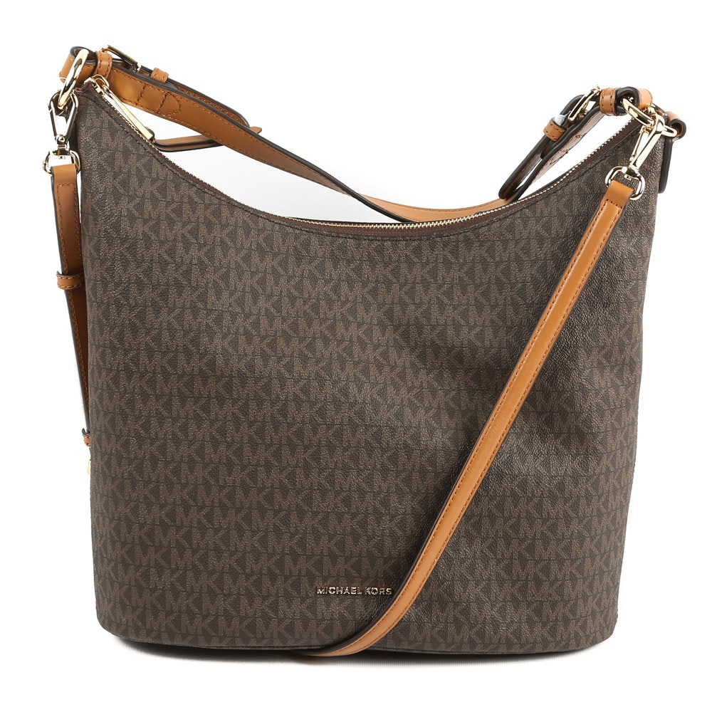 MICHAEL Michael Kors Coated Canvas and Leather Lupita Hobo Bag