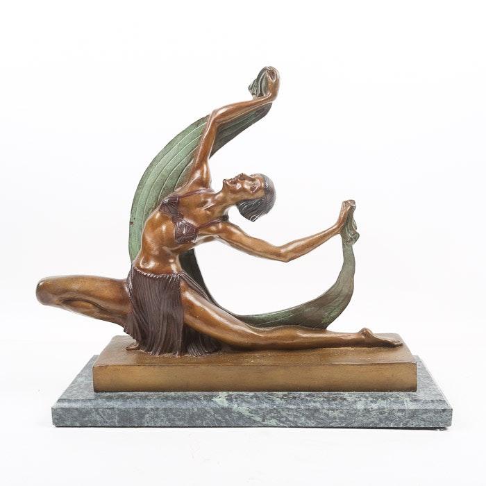 Cast Bronze Sculpture after Ferdinand Preiss