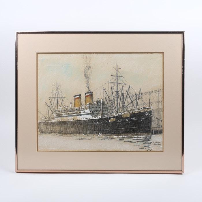 Ella Condie Lamb Maritime Drawing