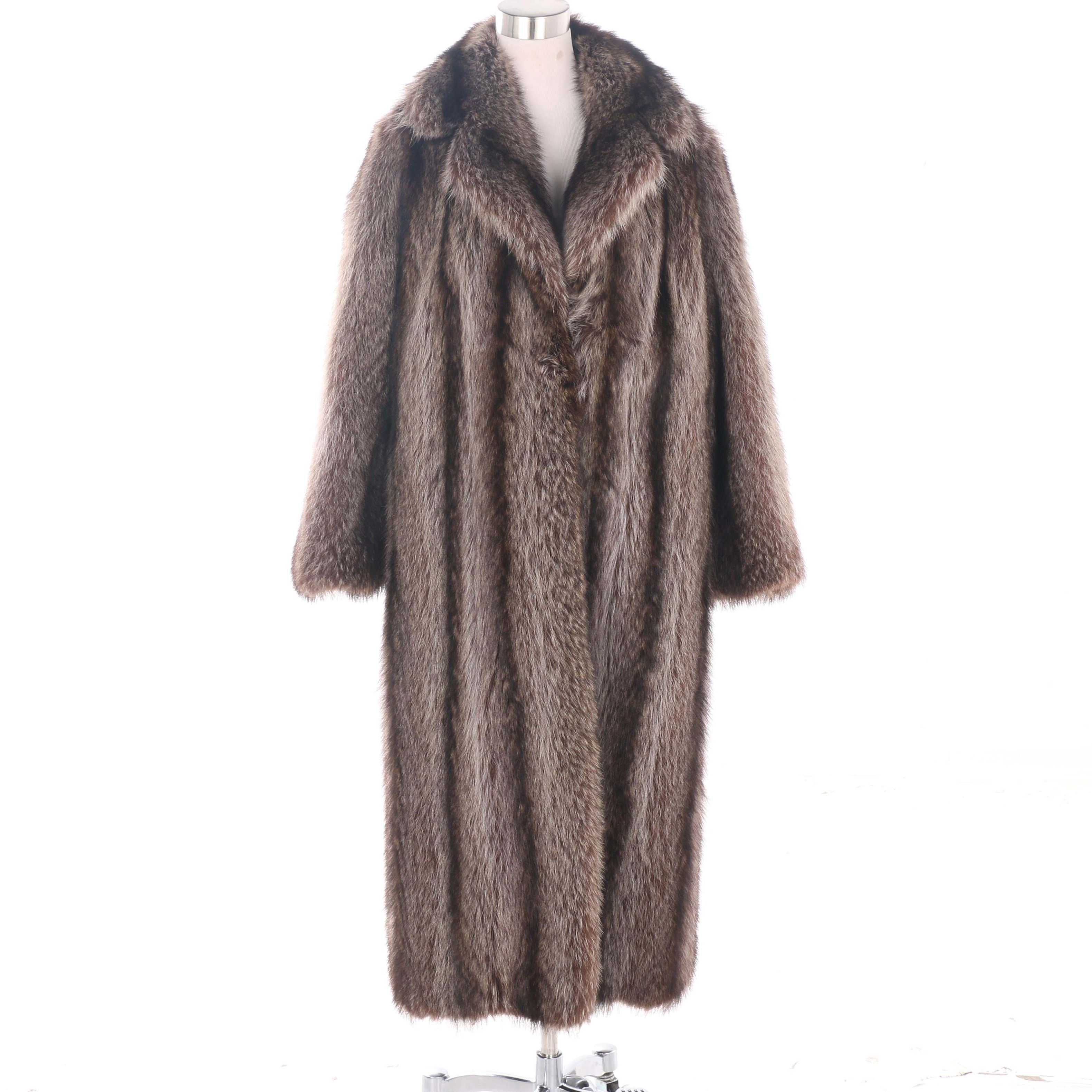 Vintage Sklar Furs Raccoon Fur Coat
