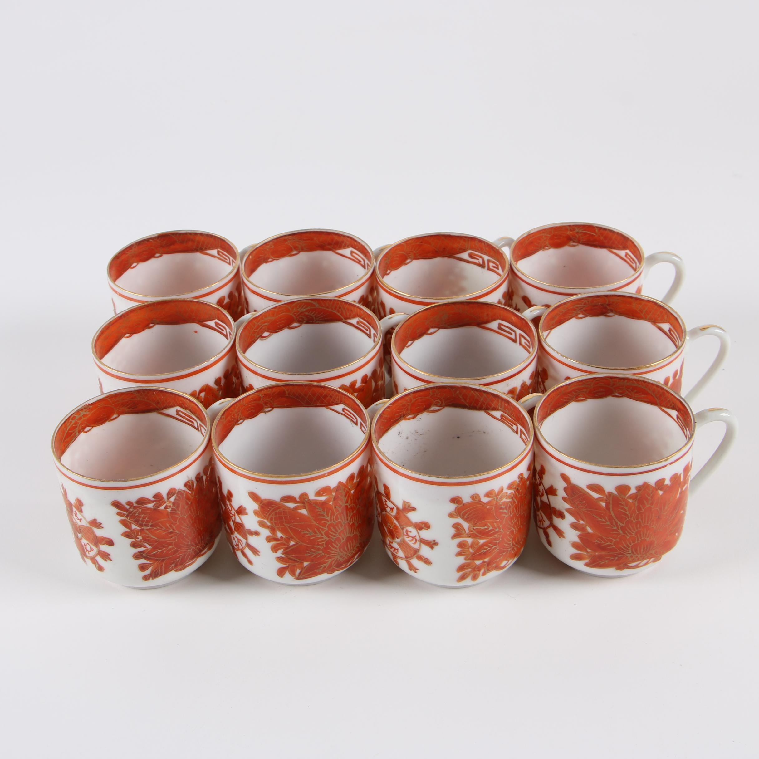 Chinese Hand-Painted Egg Shell Porcelain Cups