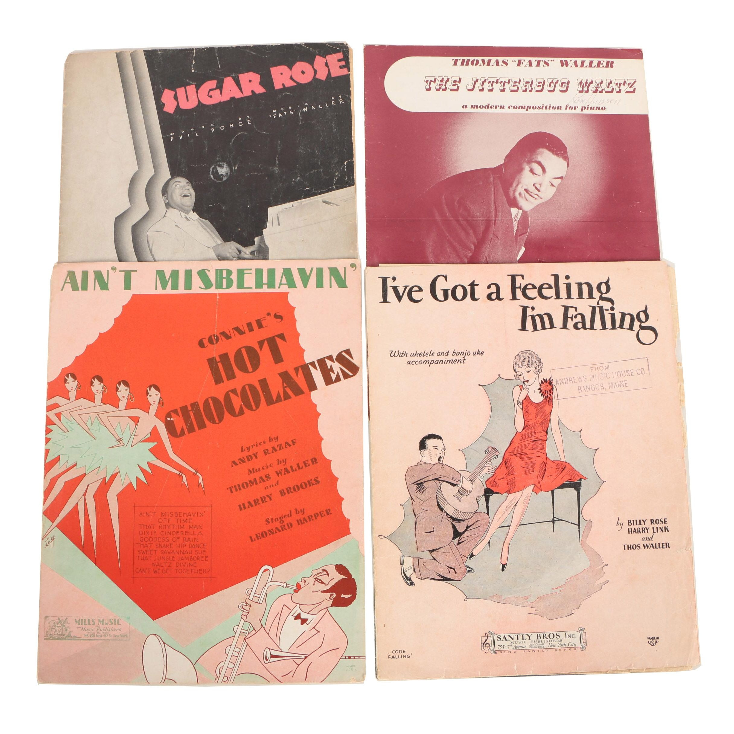 "Vintage Thomas ""Fats"" Waller Sheet Music"