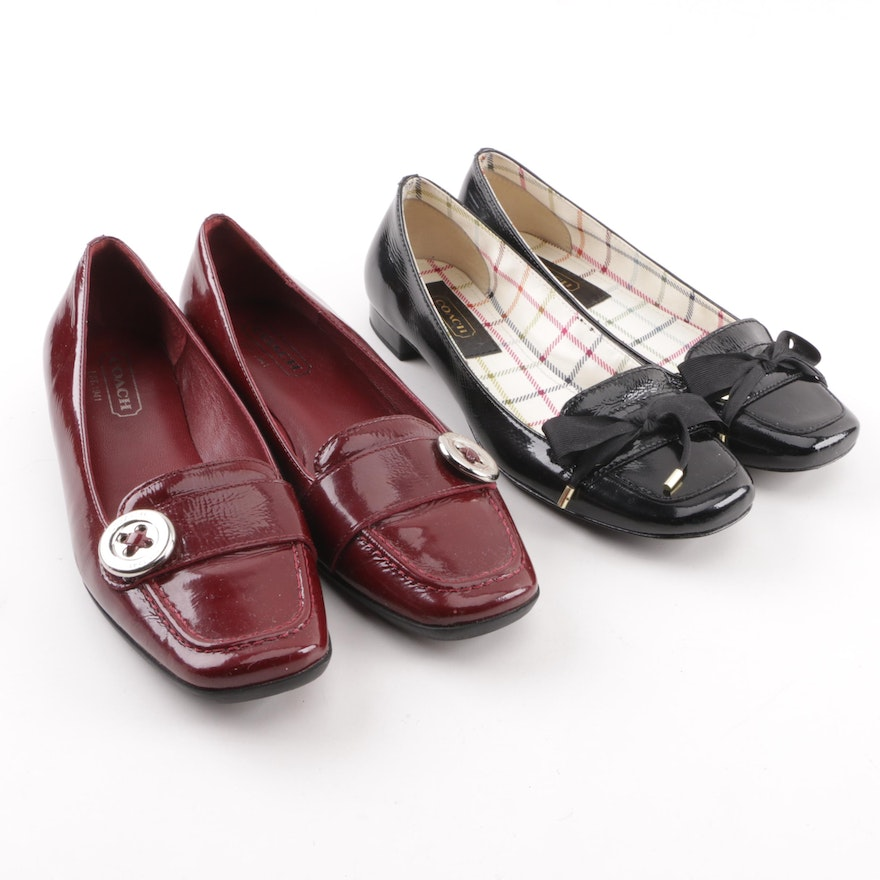 9500b6c403d Women s Coach Larysa and Tia Patent Leather Loafers   EBTH
