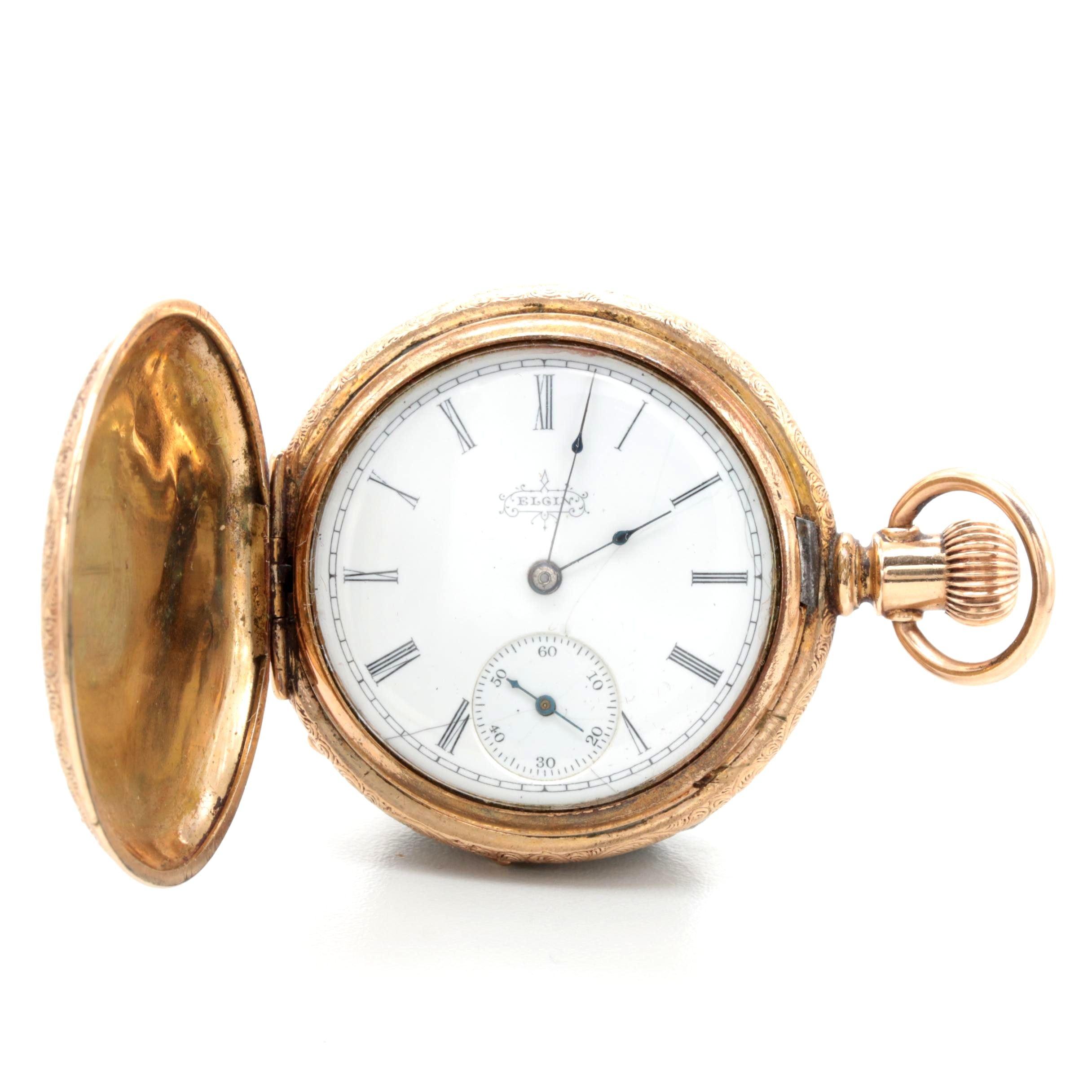 1896 Elgin Gold Filled Pocket Watch