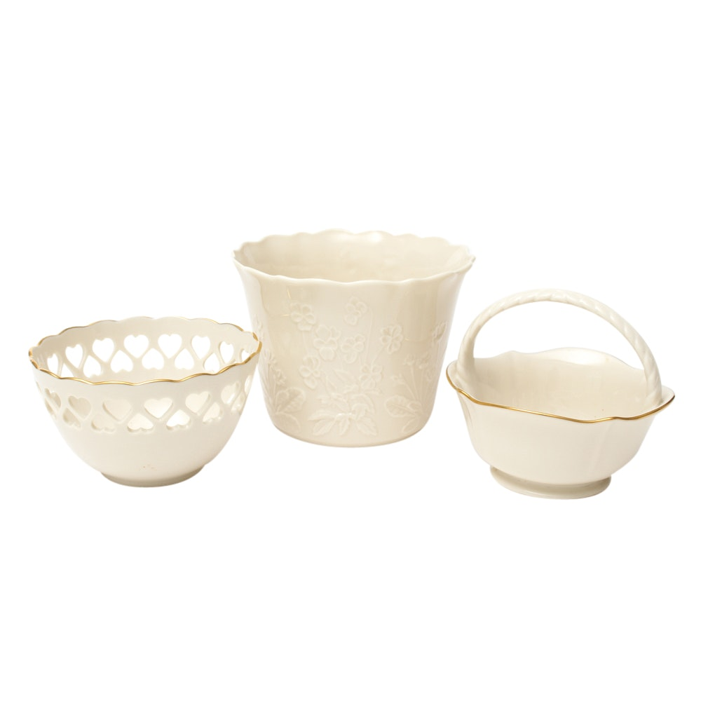 Lenox Cachepot and Bowls