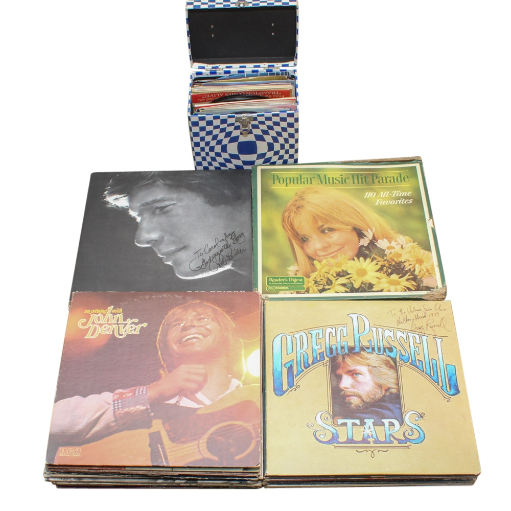 Selection of Rock and Pop Records Including Bruce Springsteen and Sonny & Cher
