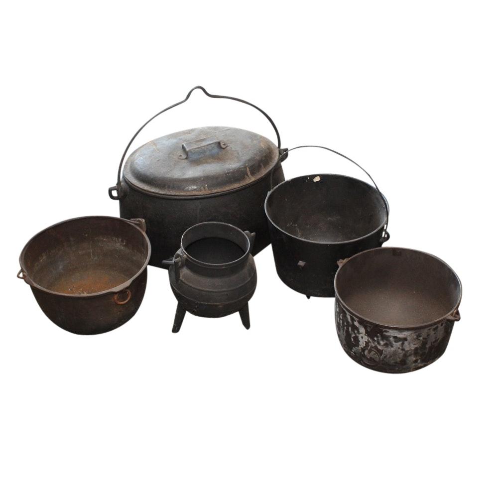 Vintage Cast Iron Pots