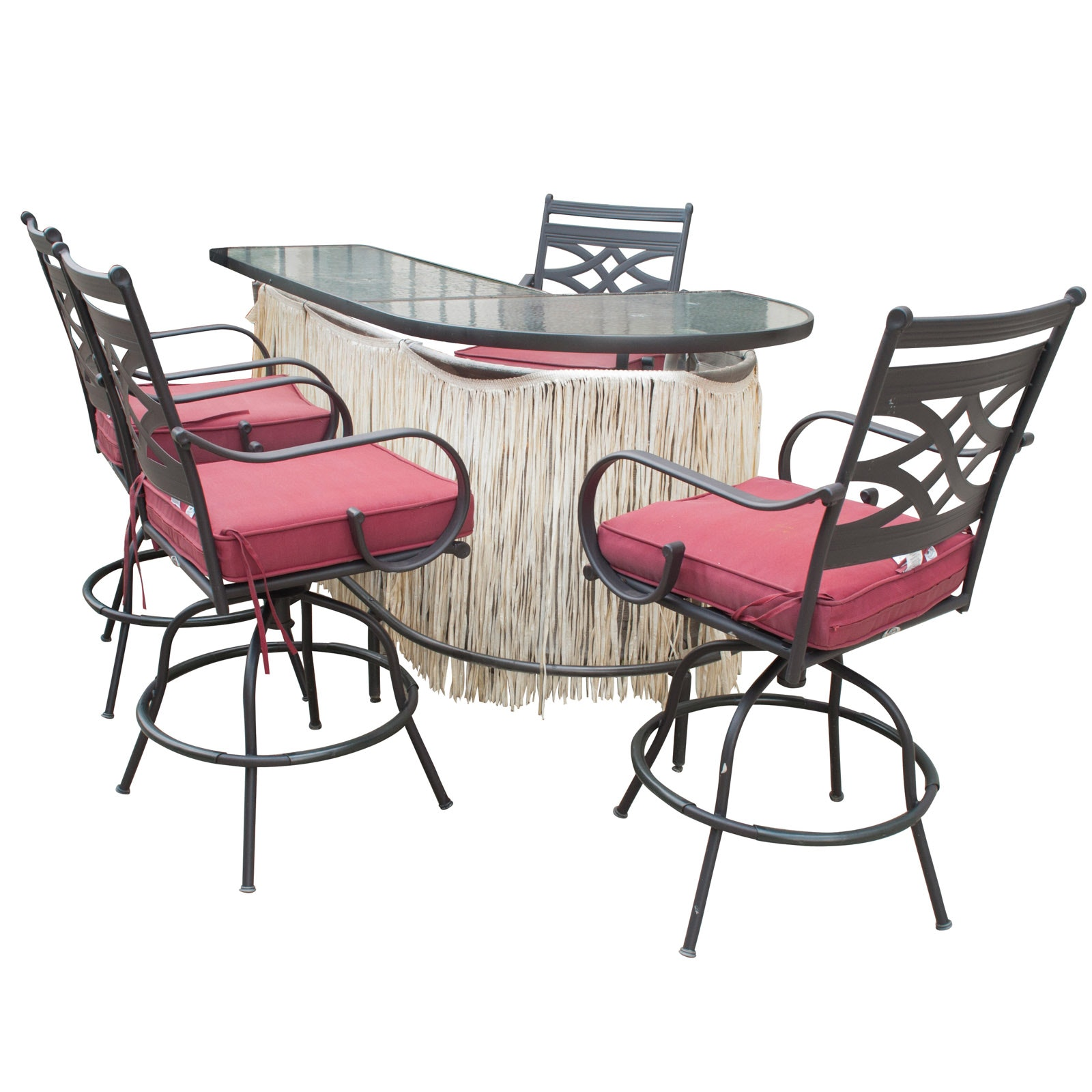 Exceptionnel Outdoor Bar With Four Hampton Bay Chairs ...