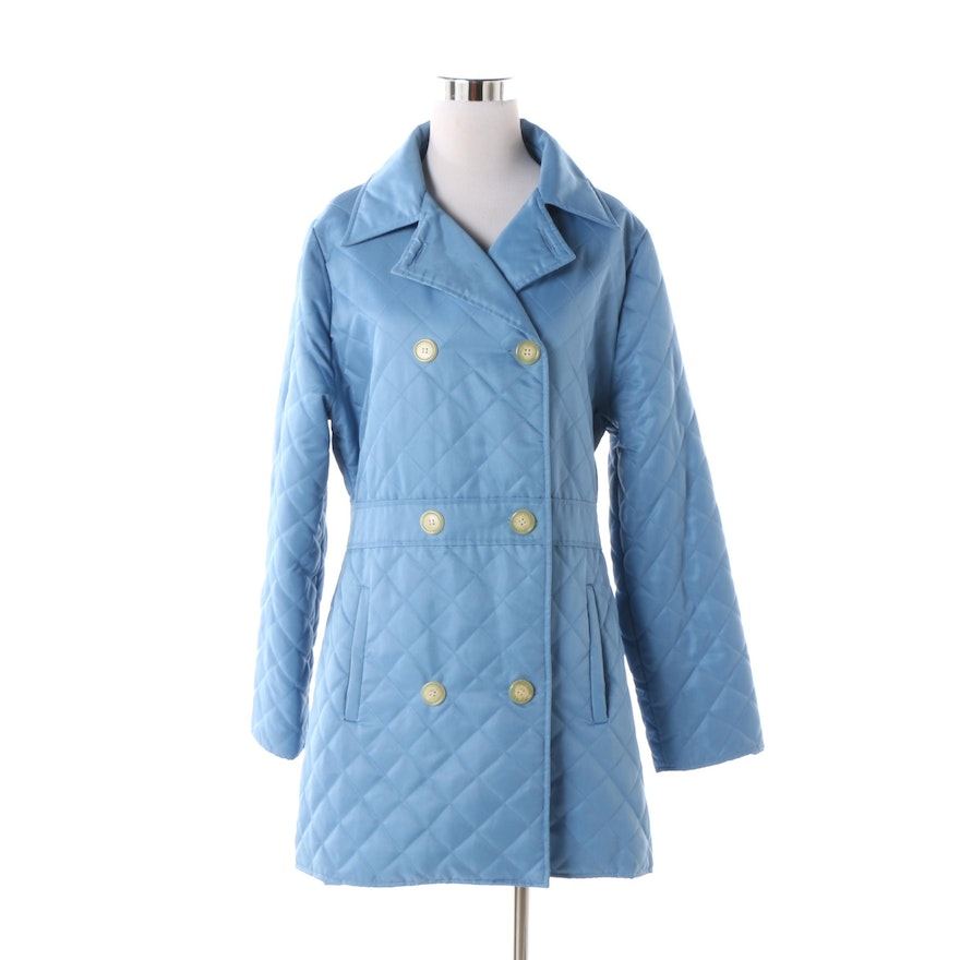 1a7f3fe8c8 Women s Lilly Pulitzer Light Blue Quilted Double-Breasted Coat   EBTH