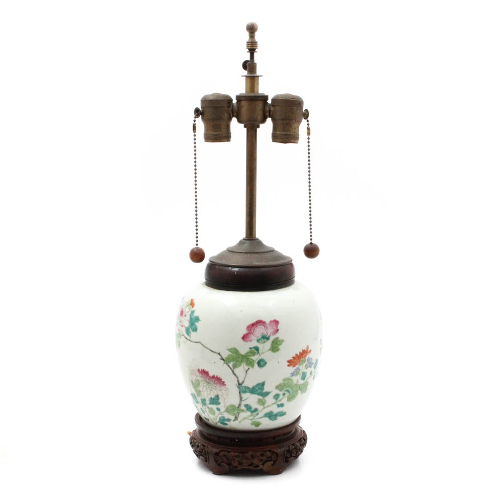 Chinese Late Qing Dynasty Table Lamp