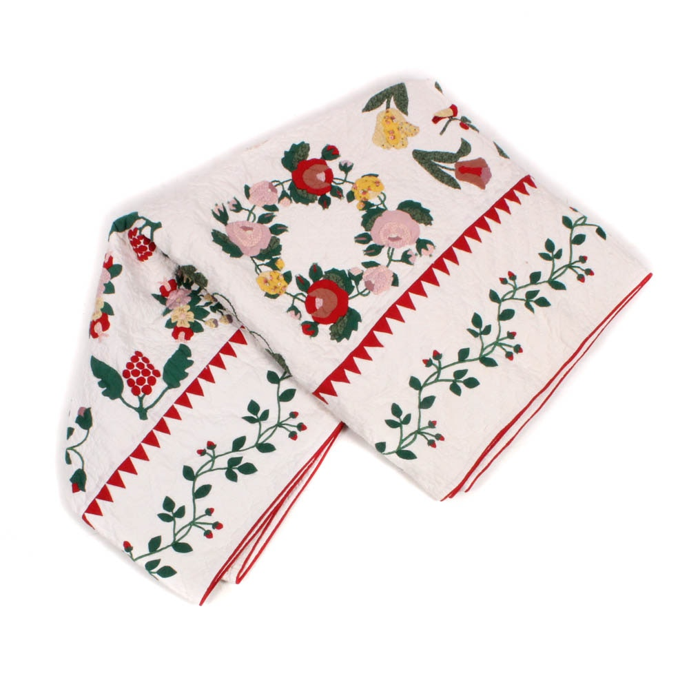 Applique Floral Quilt