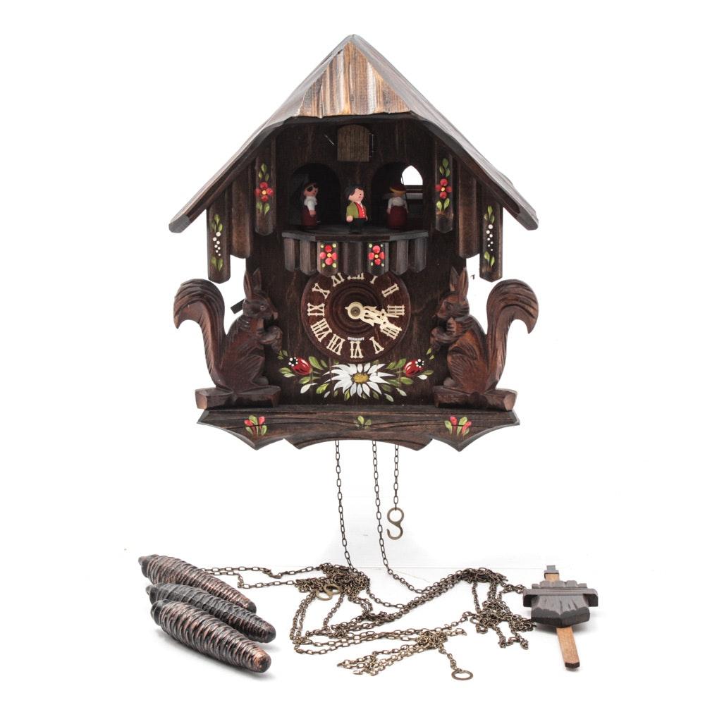 Hand-Painted German Cuckoo Clock