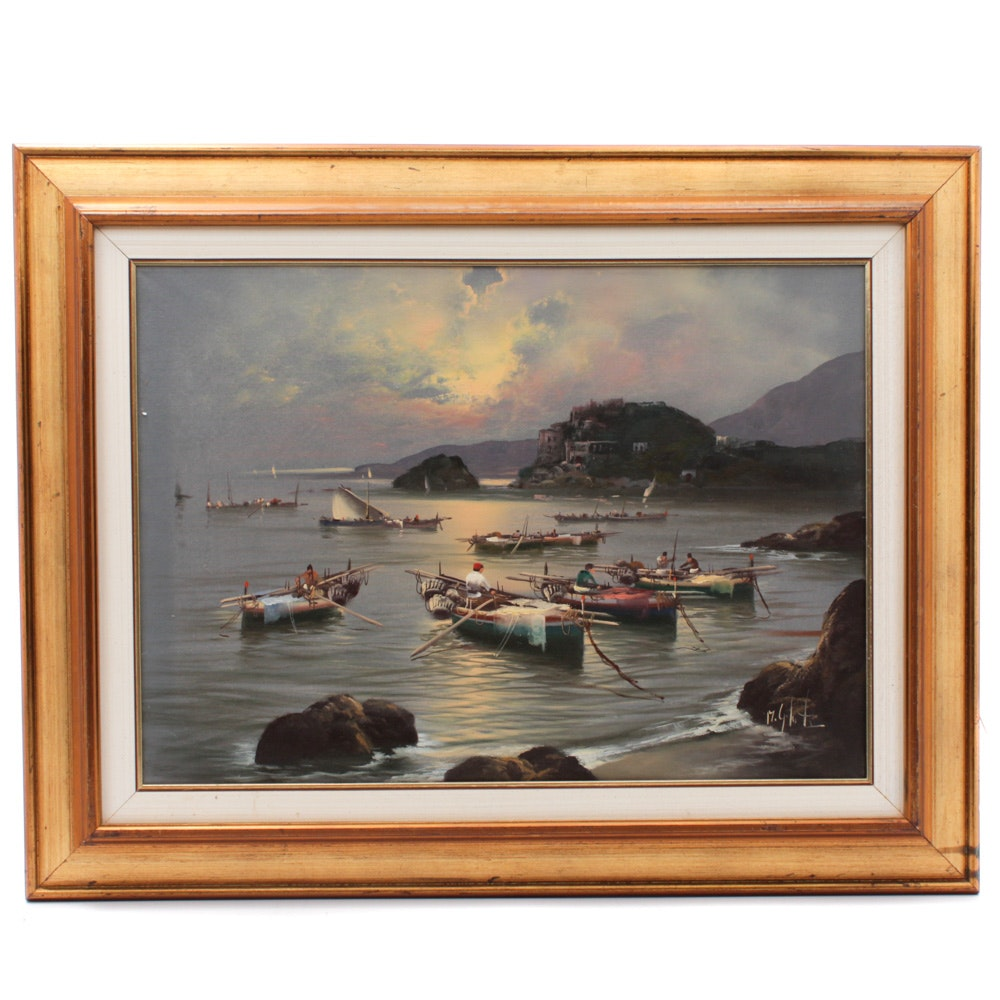 Oil Painting of Seascape at Dawn