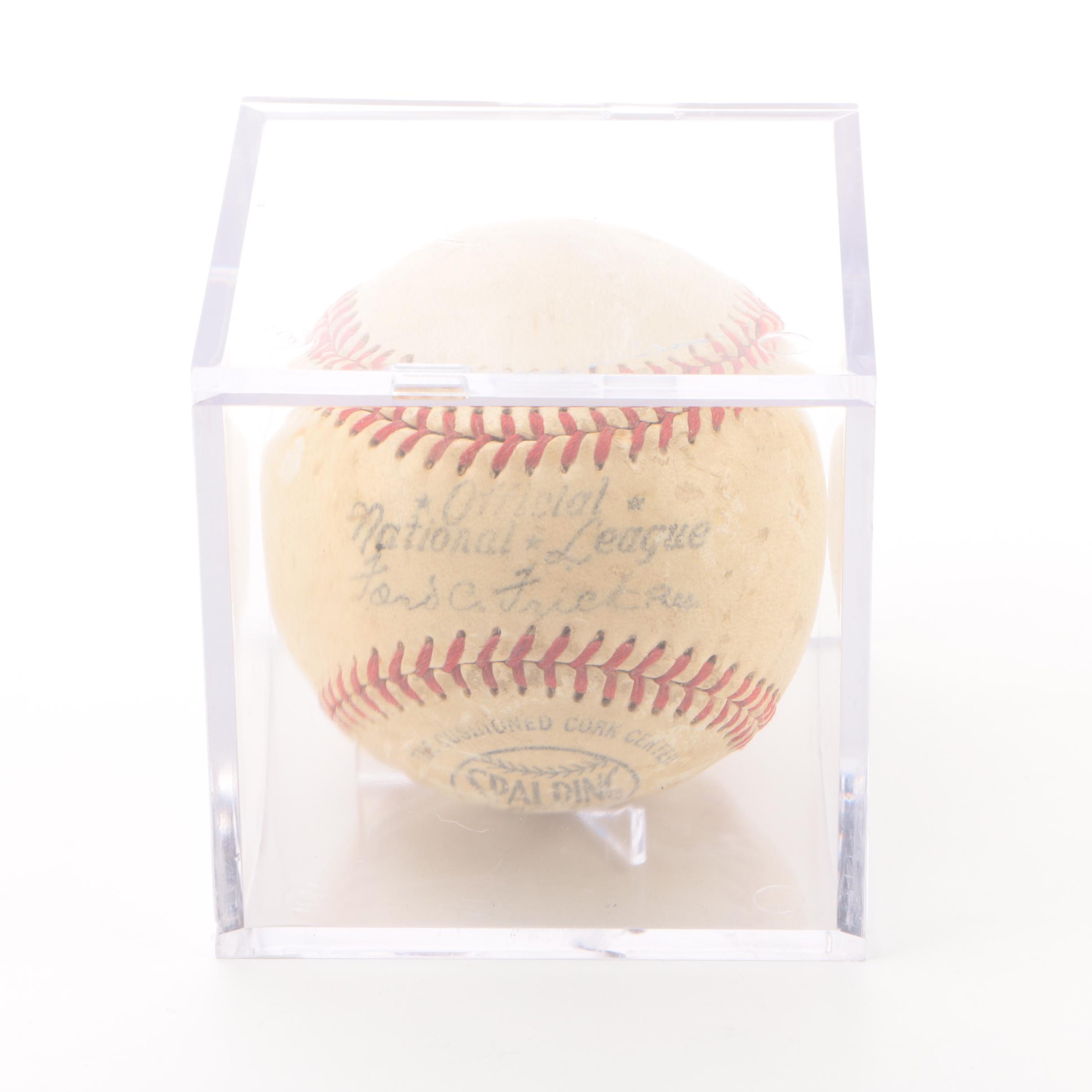 1949-1951 Official National League Baseball