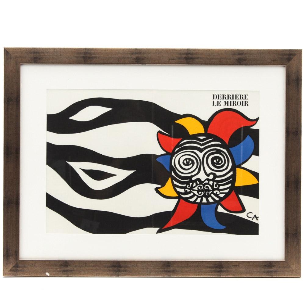 """Alexander Calder 1966 Color Lithograph for """"Derrière le Miroir No.156"""""""