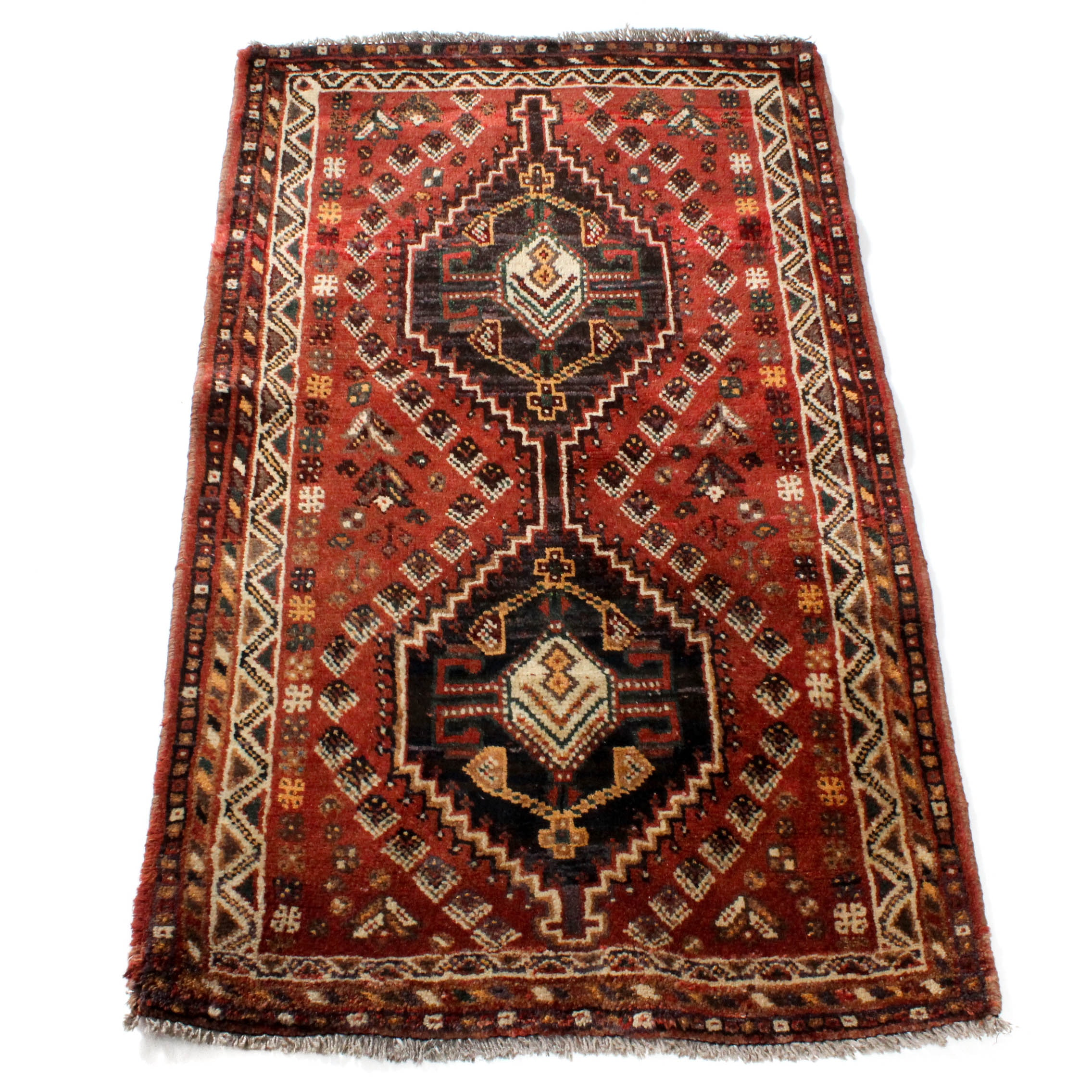 Vintage Hand-Knotted Northwest Persian Accent Rug