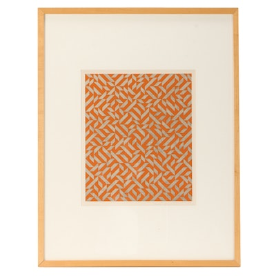 "Anni Albers Limited Edition Mixed Media Serigraph ""PO I"""