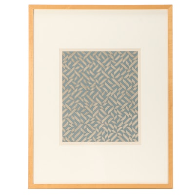 "Anni Albers Limited Edition Mixed Media Serigraph ""PO II"""