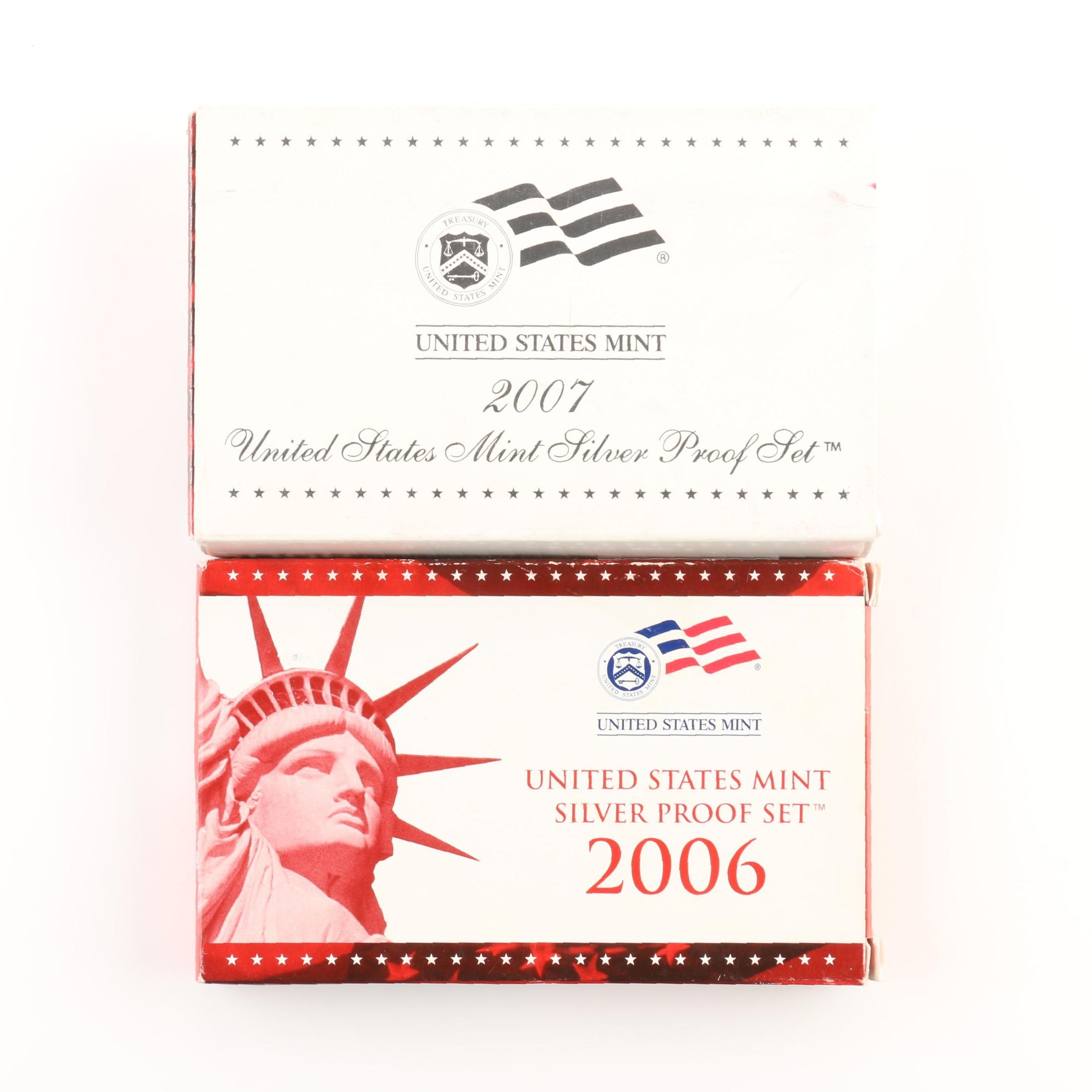 2006 and 2007 United States Mint Silver Proof Sets