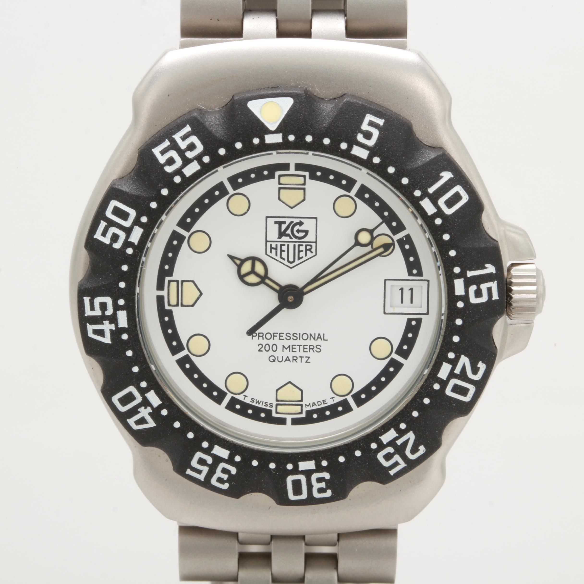 TAG Heuer Stainless Steel Black Plastic Formula 1 Quartz Wristwatch