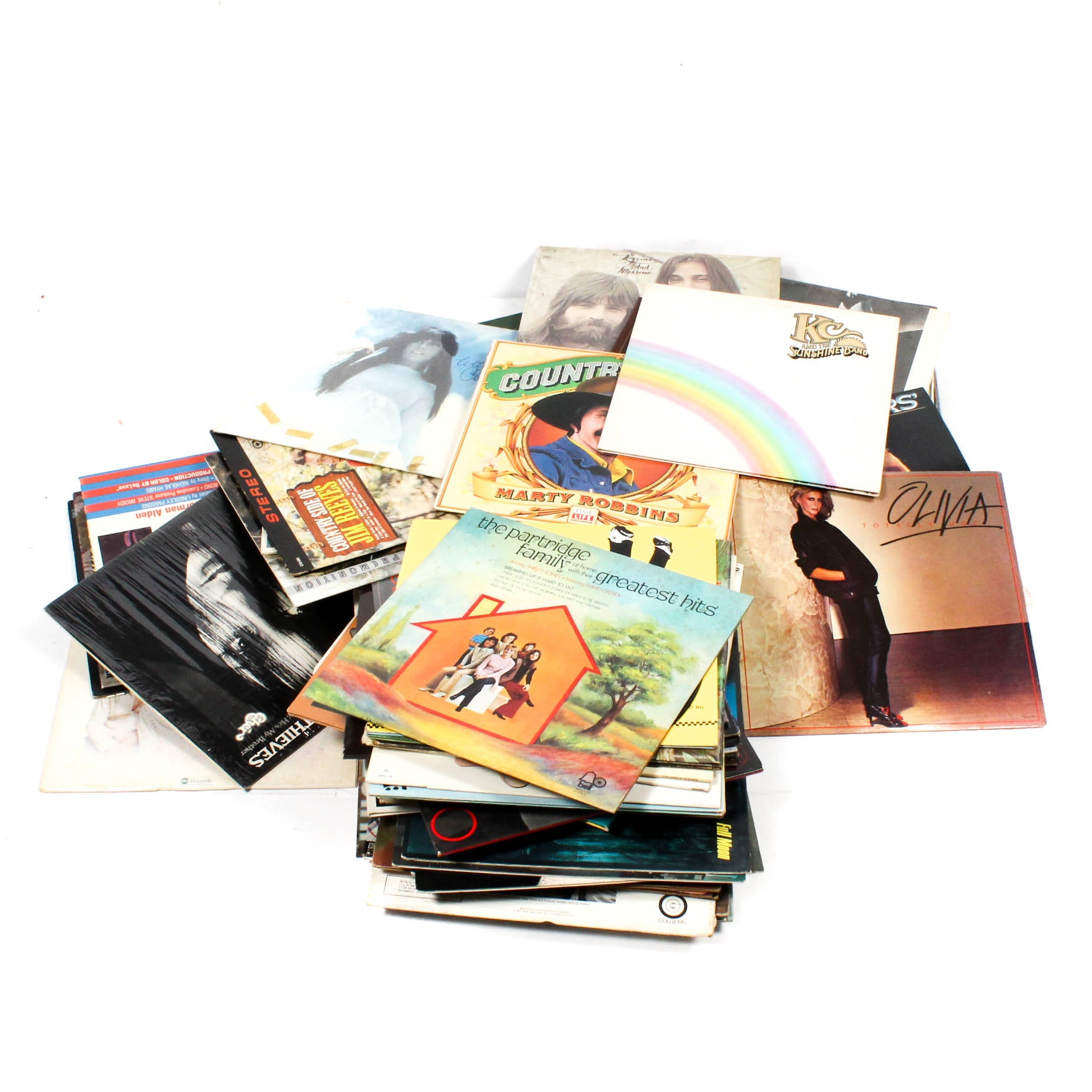 60s and 70s Rock and Country Record Albums