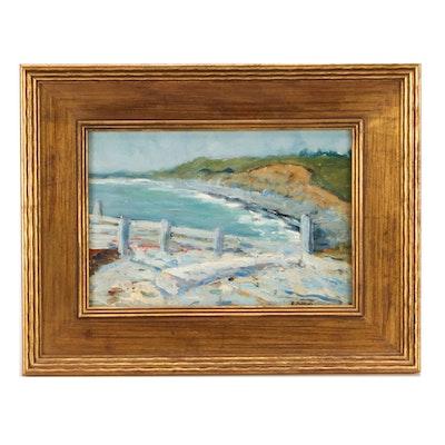 Edward Henry Potthast Impressionist Oil Painting of a Seascape