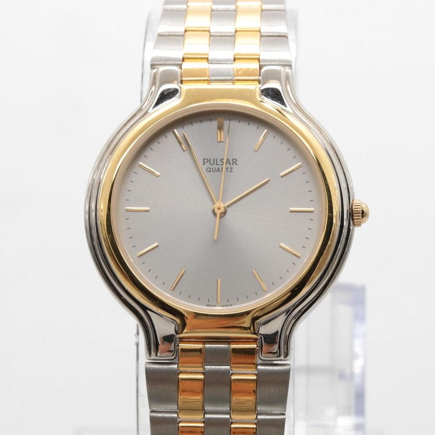 Pulsar Two Tone Quartz Wristwatch   EBTH b492005fab0