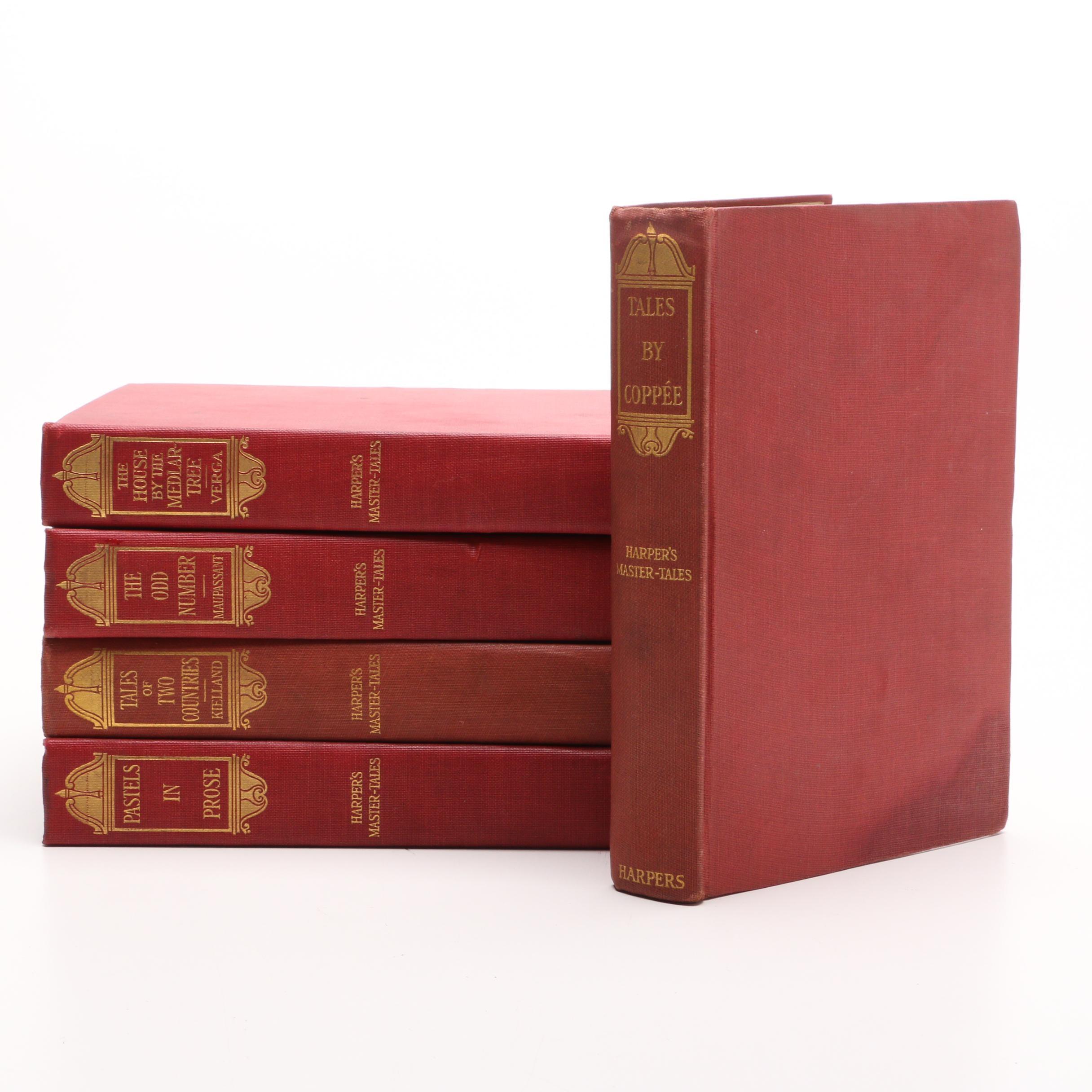 "1889 ""Harper's Master Tales"" Five Volume Set"