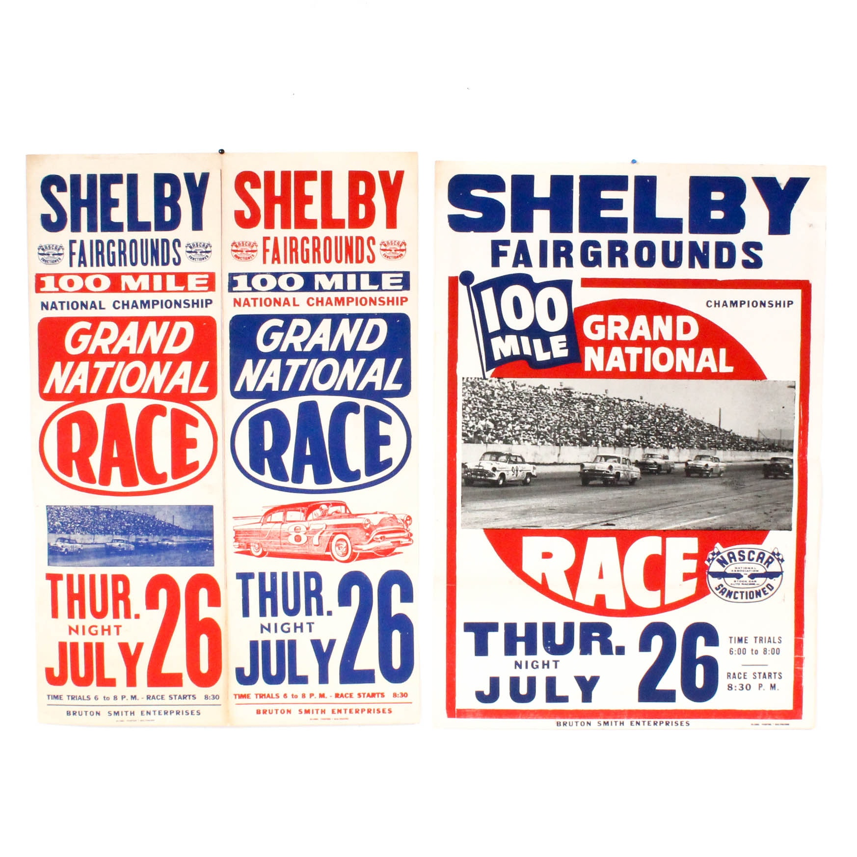 Mid Century Stock Car Racing Posters