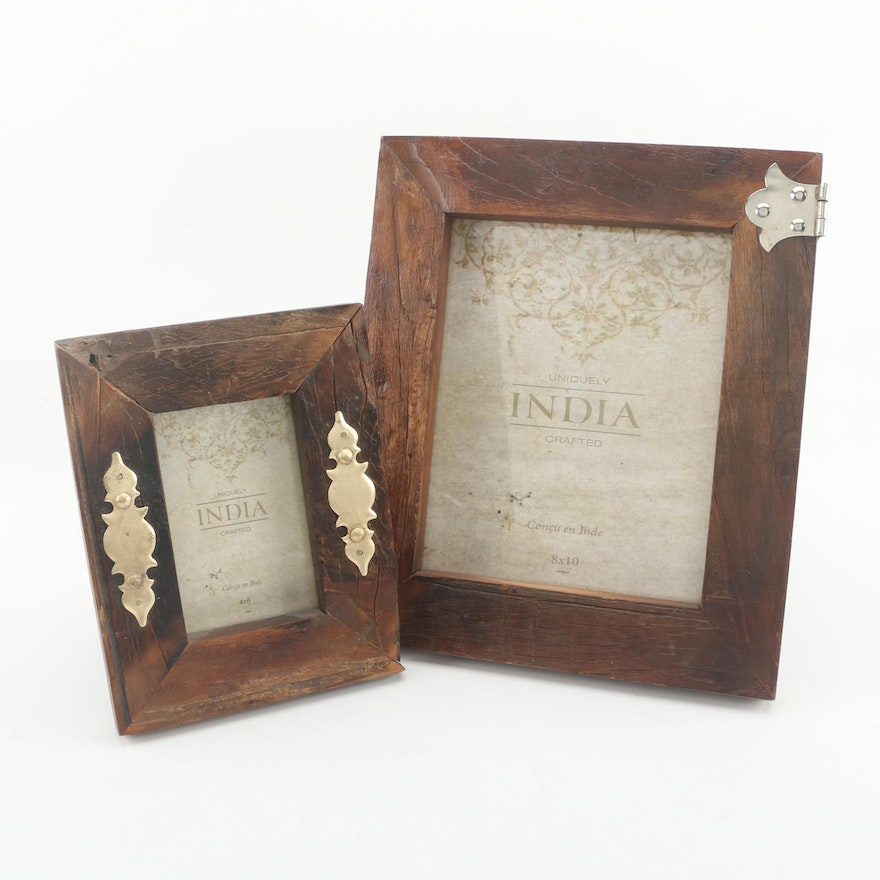 Uniquely India Wood Table Picture Frames Ebth