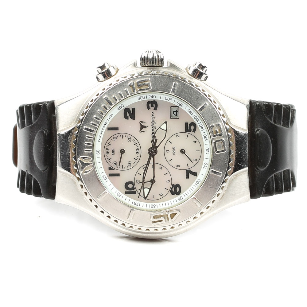 Technomarine Mother of Pearl Stainless Steel Wristwatch