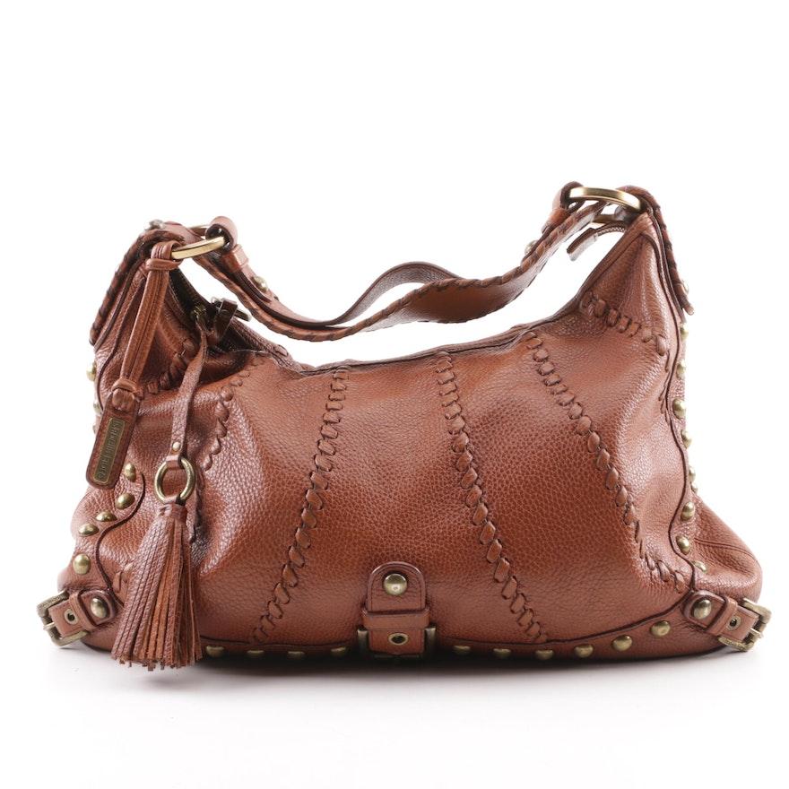 fecab952c3f8 Isabella Fiore Audra Cognac Leather Hobo Bag   EBTH