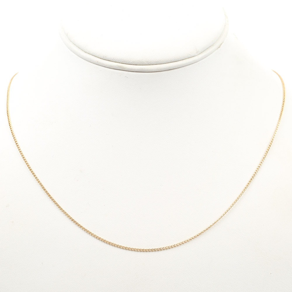 A&Z 14K Yellow Gold Link Chain Necklace