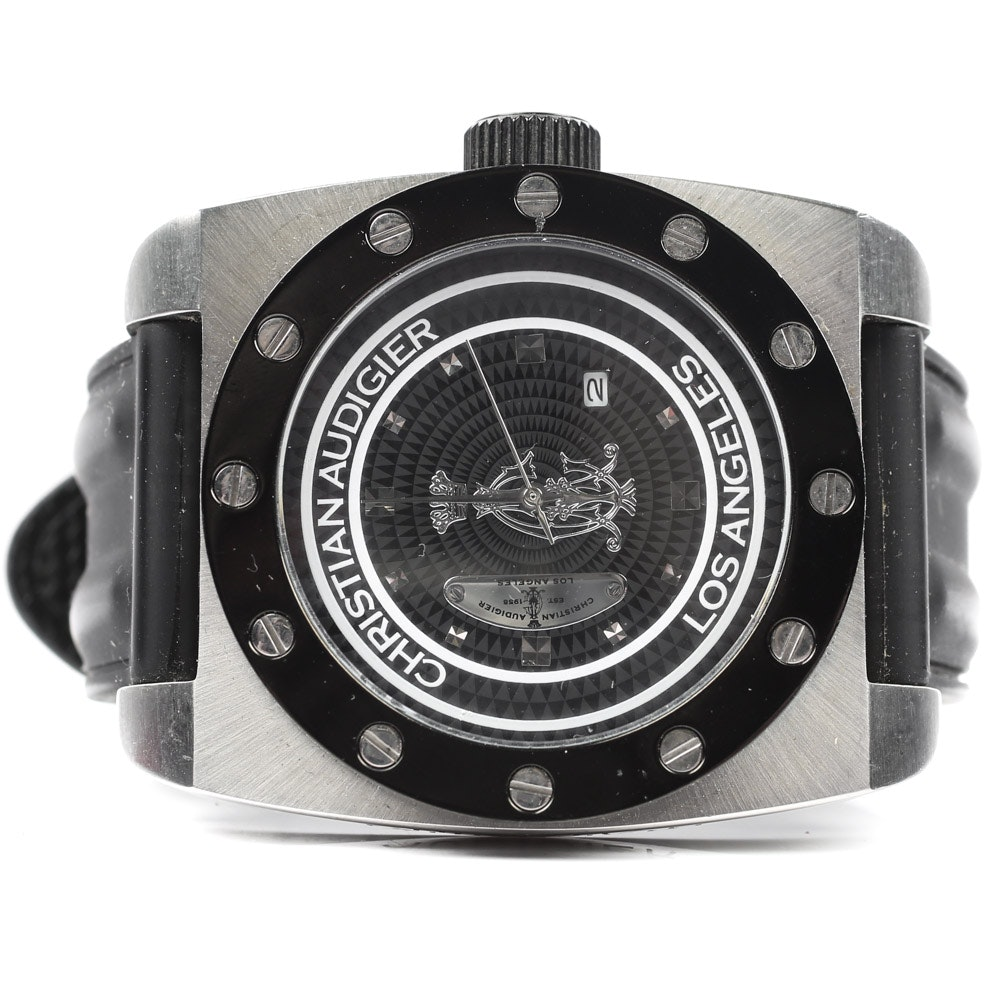 Christian Audigier Los Angeles Stainless Steel Wristwatch