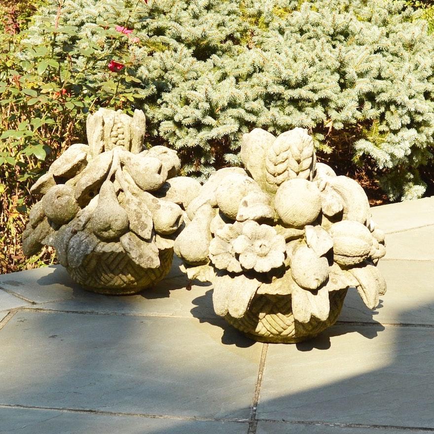 pair of concrete garden statues - Concrete Garden Statues