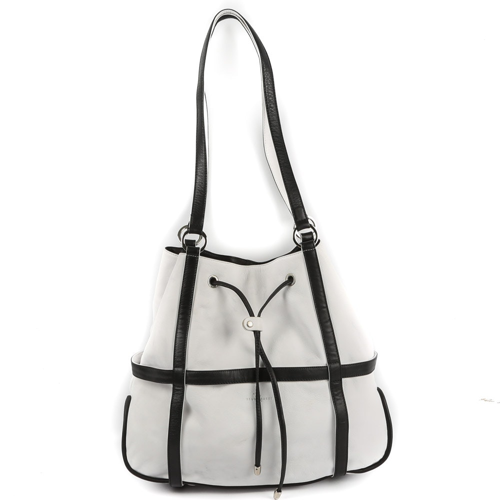 Bruno Rossi Calf Leather Oversized Bucket Bag