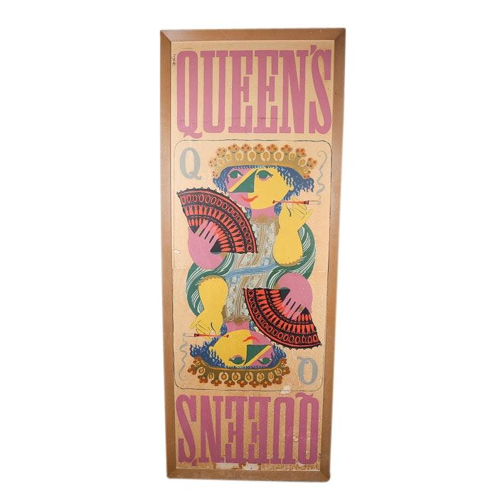 """Bjørn Wiinblad Serigraph Poster """"Queen's"""""""