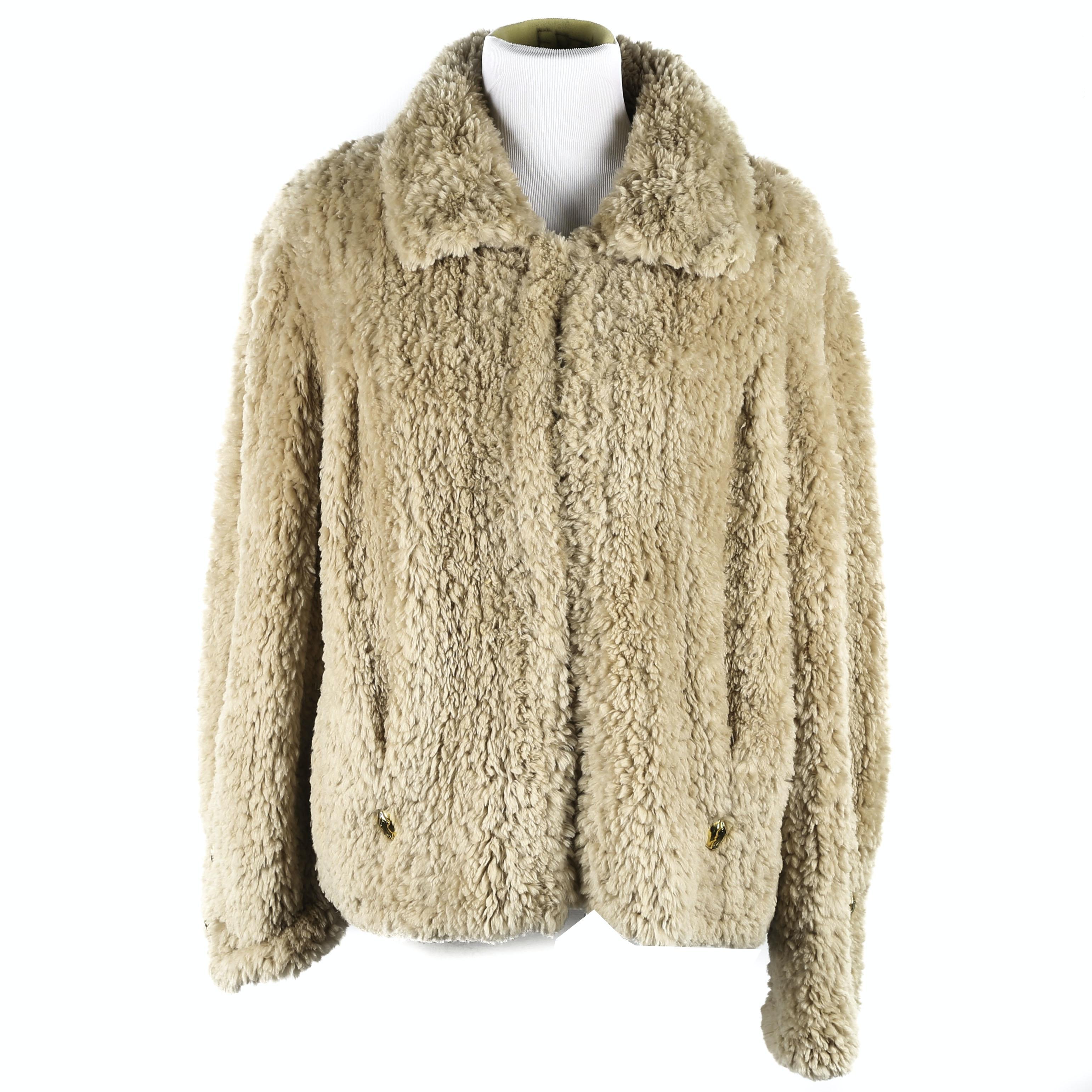 Vintage Handmade Sheared Beaver Fur Jacket from Paula Lishman