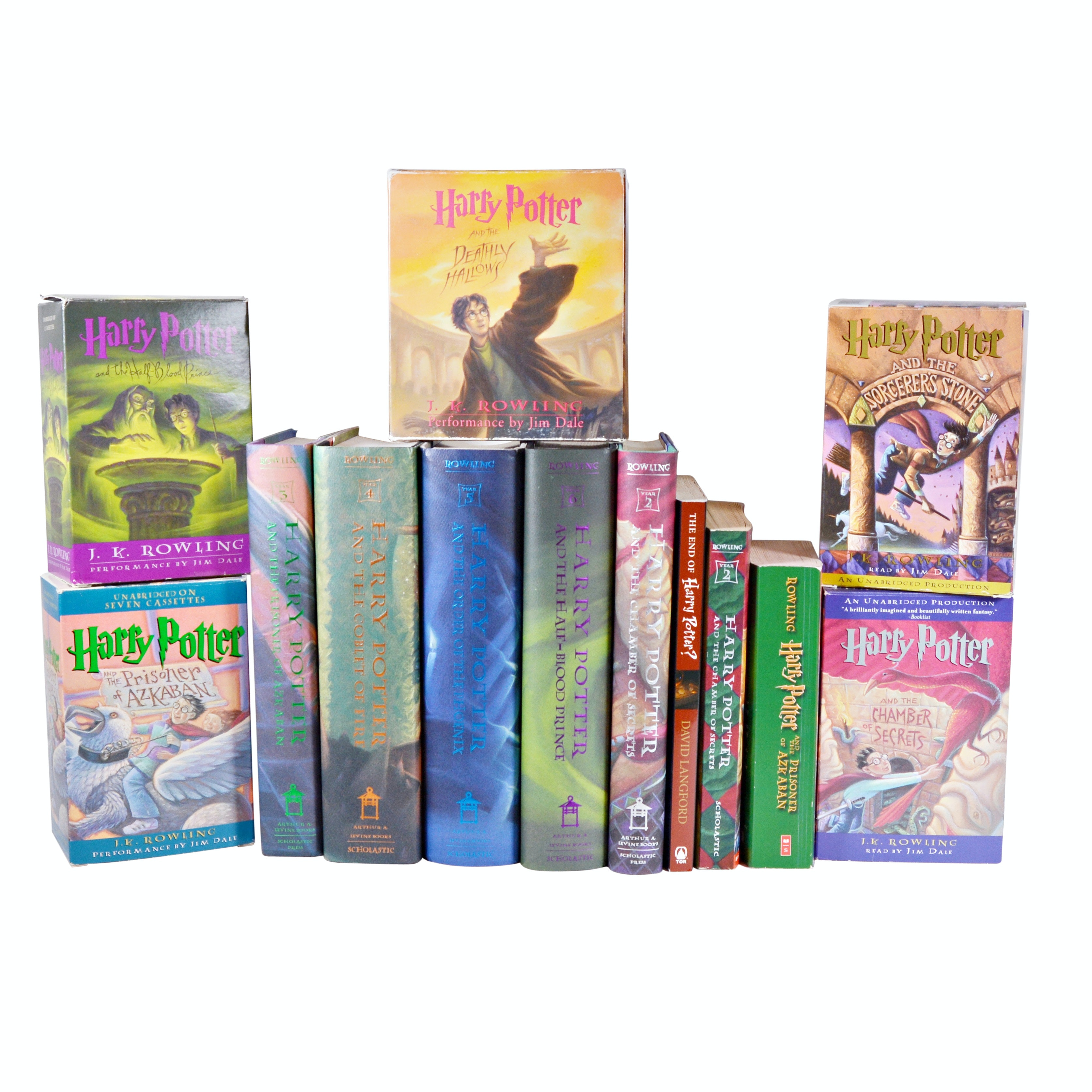 """Harry Potter"" Collection of Books and Audio Books"