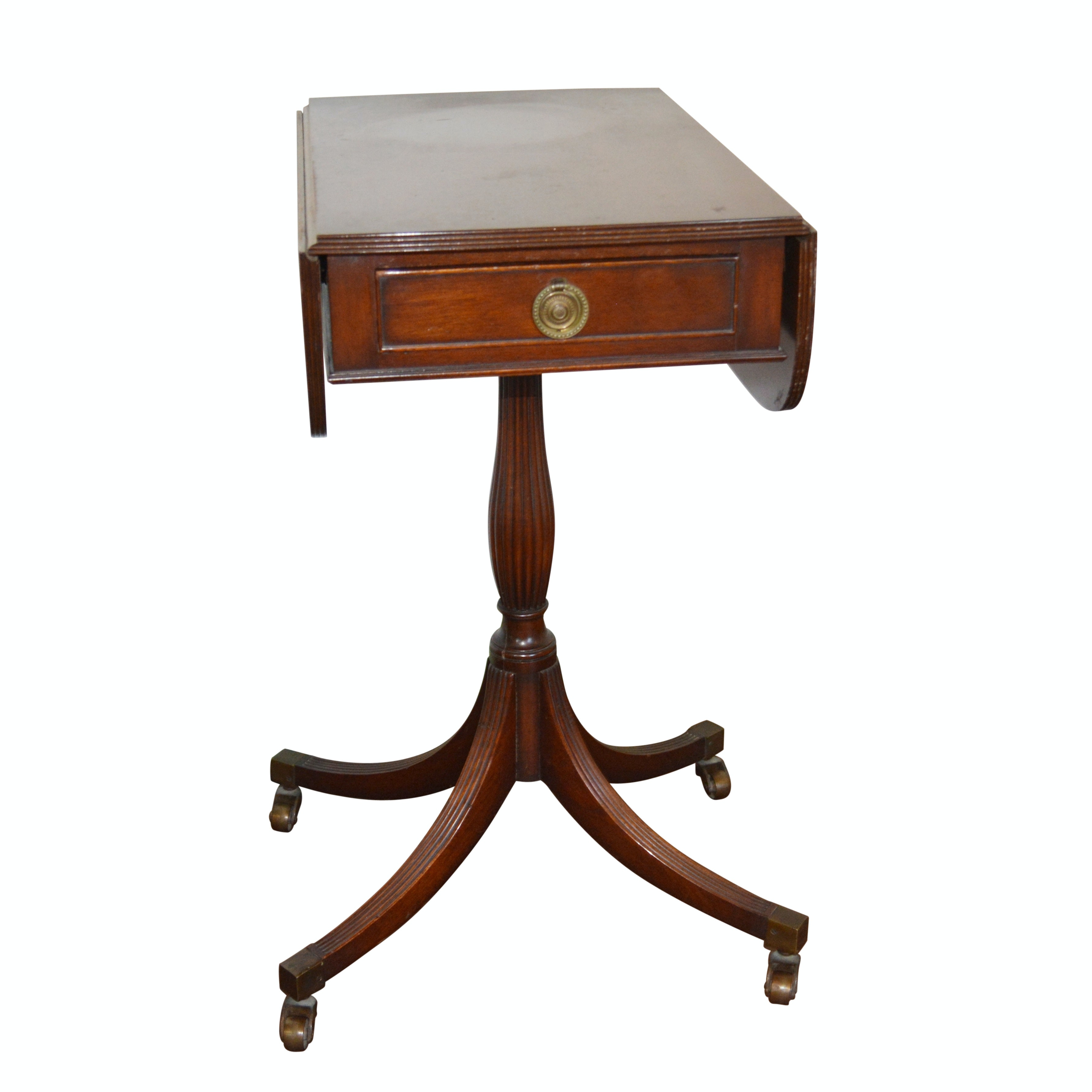 Colonial Williamsburg Mahogany Side Table in the Federal Style, 20th Century
