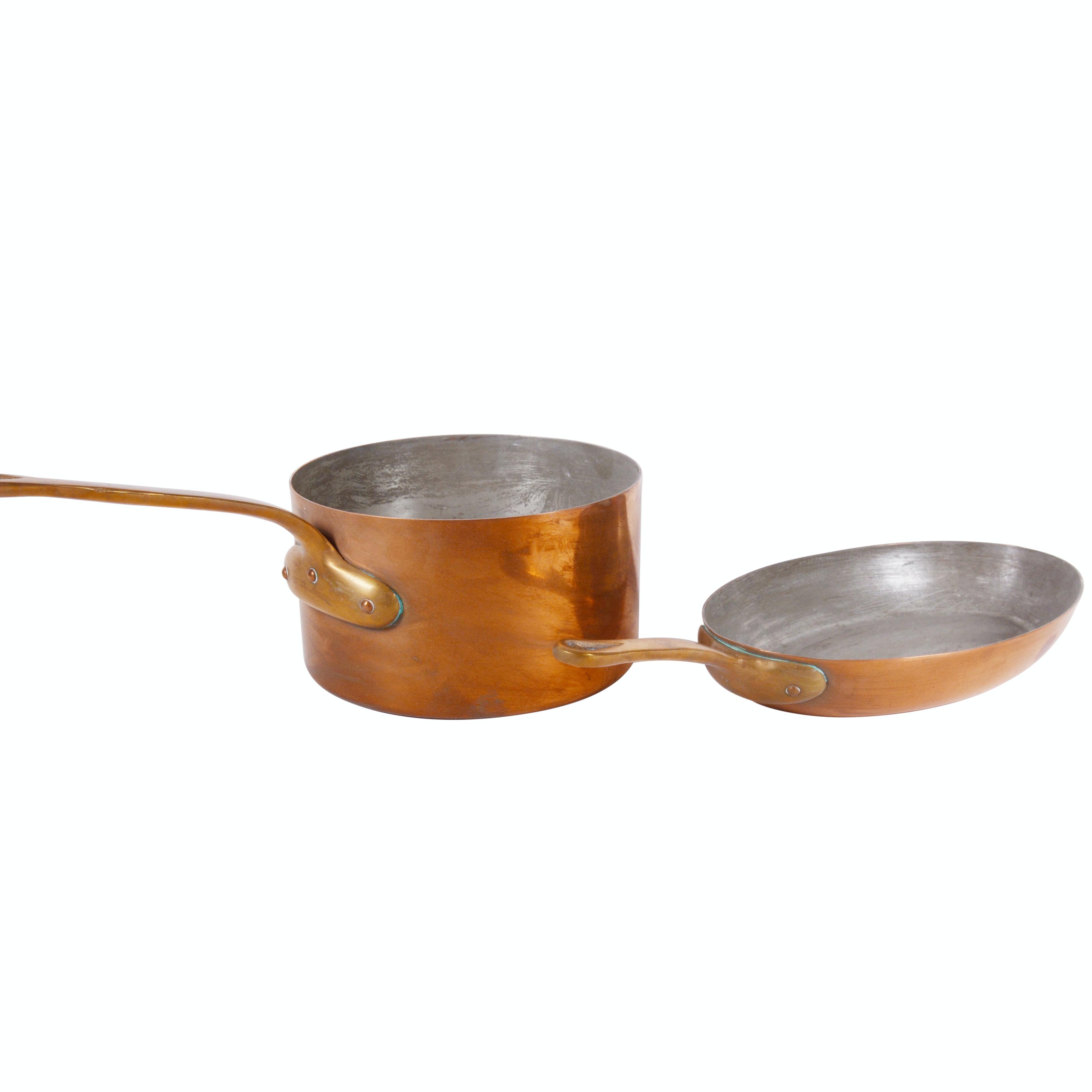 Bazar Francais Copper Sauce Pan and Oval Saute Pan