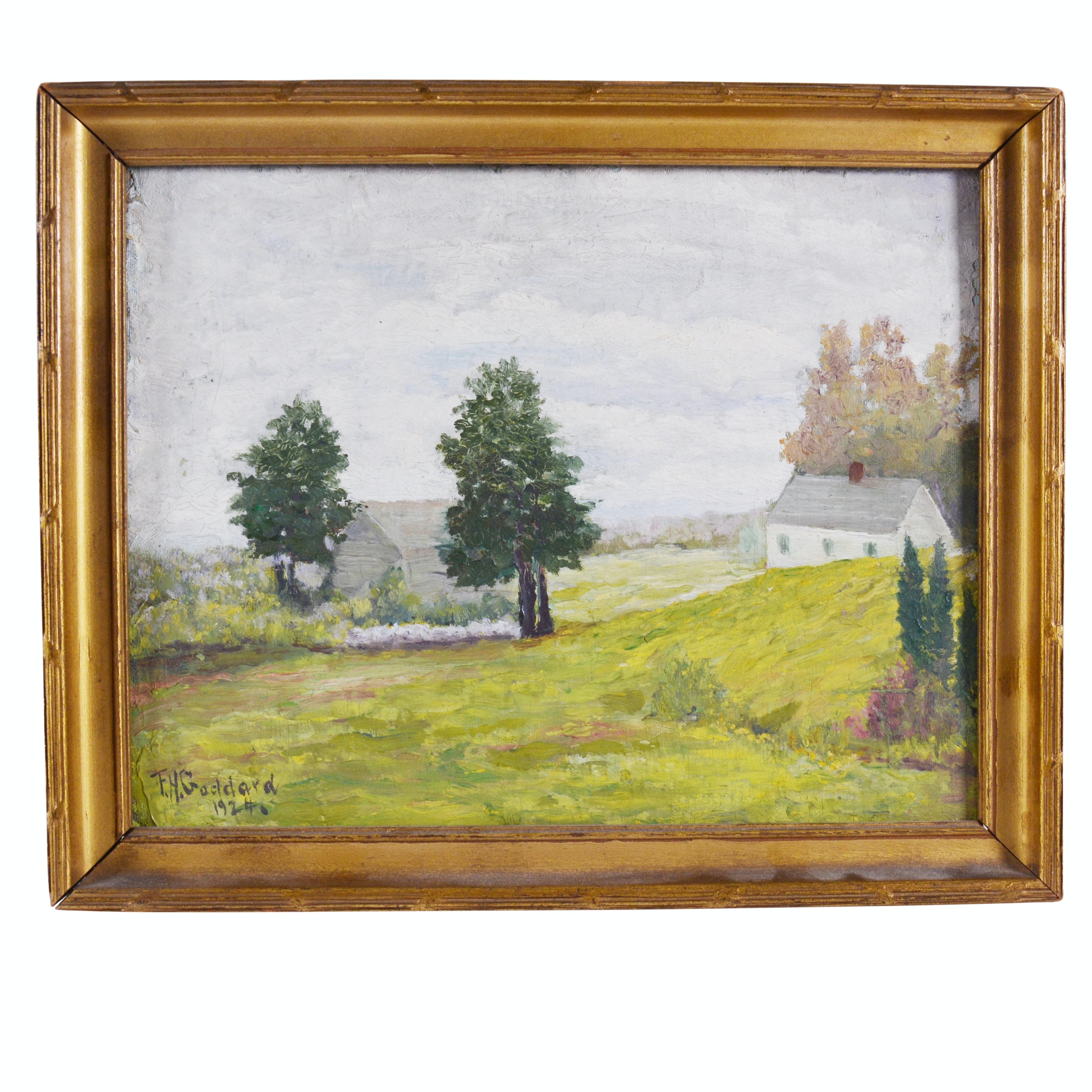 F.H. Goddard Oil Painting of Landscape