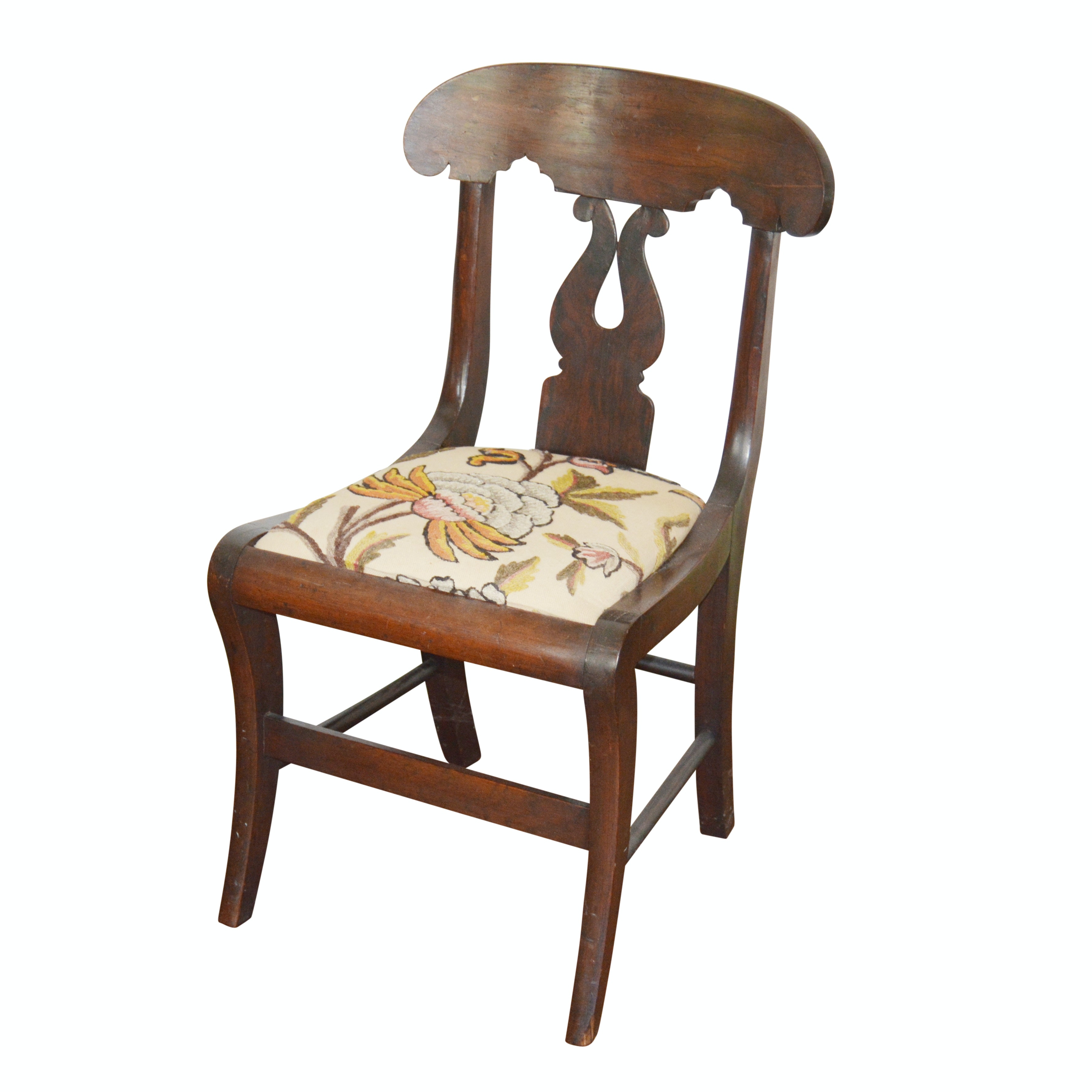 Classical Mahogany Side Chair, Circa 1830