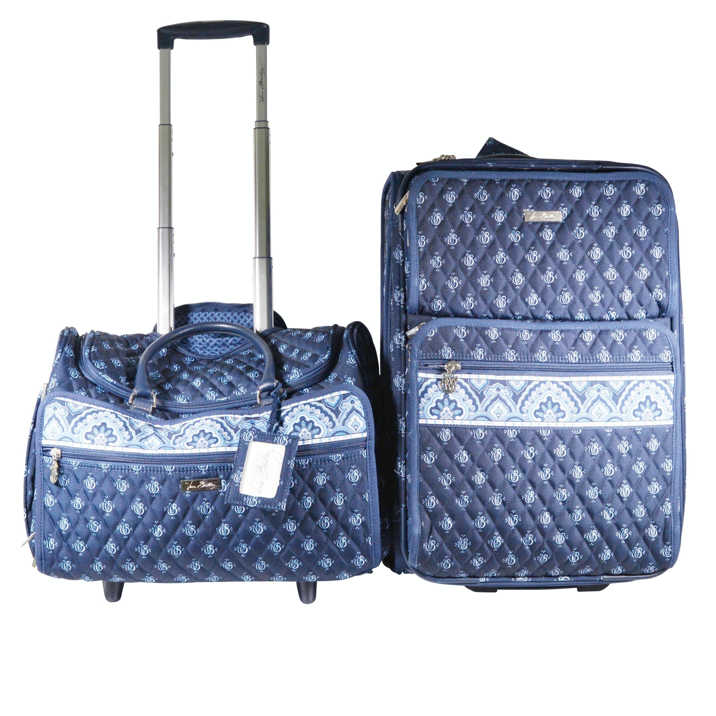 Vera Bradley Blue Fabric Luggage