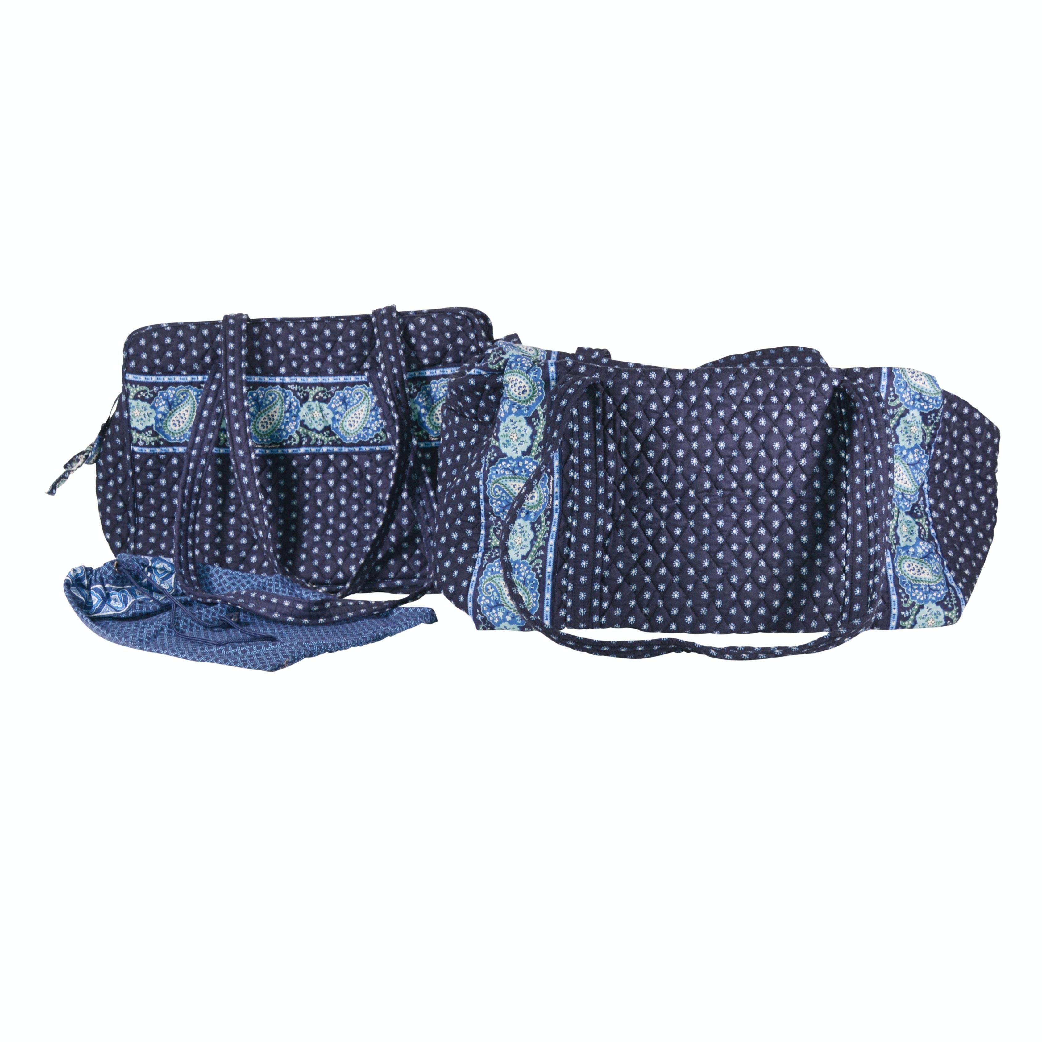 Vera Bradley Blue Fabric Duffel and Tote Bag